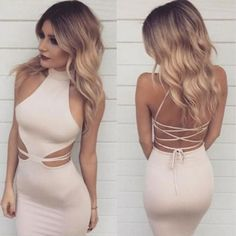 Classy Prom Dresses, Baby Pink Halter Prom Dress,Lace Up Prom Dress,Sexy Mermaid Evening Dress,Tea Length Bodycon Dress Prom Dresses Long Gold Prom Dresses, Prom Dresses For Sale, Mermaid Evening Dresses, Homecoming Dresses, Dress Prom, Baby Pink Dresses, Tea Length Dresses, Tight Dresses, Sexy Dresses