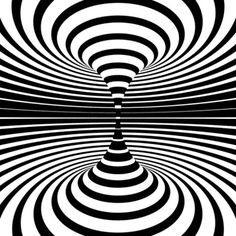 Generative Art Op-art animations: There´s a lot designers can do with just black and white. A collection of op-art inspired animated art, black & white only! Illusion Kunst, Optical Illusion Gif, Illusion Art, Optical Illusions, Brain Illusions, Optical Image, Gif Black, Black And White, Animiertes Gif