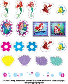 Printable Little Mermaid stickers