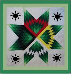 Diane's Native American Star Quilt: Earth Day Star Quilt