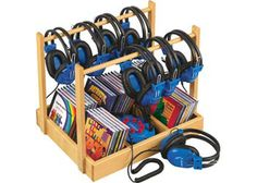 Lakeshore Listening Center at Lakeshore Learning Classroom Arrangement, Lakeshore Learning, Dream Library, Junction Boxes, Free Activities, Clipart, Back To School, School Stuff, Classroom Decor