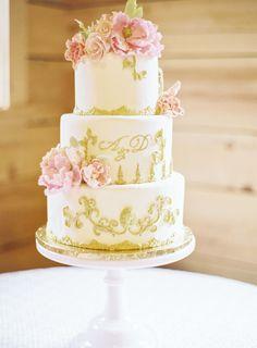 Wedding Cake: Tallant House - http://www.stylemepretty.com/portfolio/tallant-house Event Planning: Lovely Events - http://www.stylemepretty.com/portfolio/lovely-events Venue: Red Cedar Farm - http://www.stylemepretty.com/portfolio/red-cedar-farm   Read More on SMP: http://www.stylemepretty.com/2015/04/27/marie-antoinette-inspired-washington-farm-wedding/