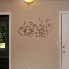 Octopus Wall Decal Nursery Wall Sticker by ChuckEByrdWallDecals, $38.50