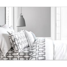 Buy your Link Duvet Cover in Stone by Oilo here. Create a modern bedroom with the Link Duvet Cover in Stone. Duvet cover is white with gray flange (complete your look by Linen Bedroom, Linen Duvet, Modern Crib, Modern Bedroom, Baby Boy Nursery Decor, Boy Room, Kids Room, Sheet Sets, Cribs