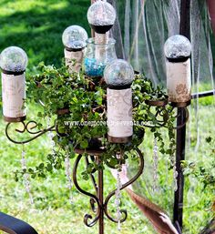 Solar Candelabra Plant Stand