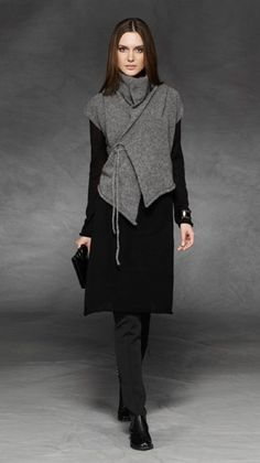 sarah pacini. I could wear this without the tie dangling down. A little too OCD to handle that.