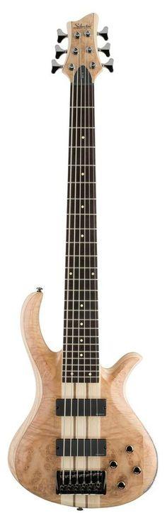 Schecter Riot-6 Bass Guitar Natural Satin Burl