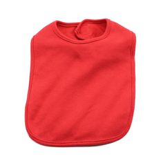 Blank Baby Bib in Color Red