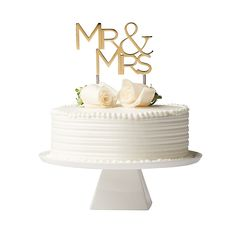 """Sleek and chic, the """"Mr."""" Cake Topper from Olivia & Oliver boasts sophisticated, modern style. Beautifully crafted with a gleaming silver finish, this charming piece will add a touch of style to your wedding or anniversary celebration. Wedding Reception Food, Wedding Toasts, Our Wedding, Wedding Ideas, Wedding Stuff, Wedding Bed, Wedding Favors, Wedding Decorations, Wedding Cake Prices"""