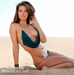 Emily DiDonato was photographed by Kayt Jones in Namibia. Swimsuit by Indah. #Celebrities #Bikinis