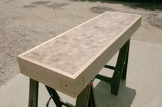 framed end grain worktop
