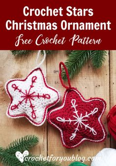 Crochet Gift Patterns Crochet Stars Christmas Ornament Free Pattern - This week link list has filled with some crochet gift ideas you can make quickly. And I think they are perfect for winter holiday and festive season. Crochet Star Patterns, Crochet Stars, Christmas Crochet Patterns, Holiday Crochet, Crochet Snowflakes, Crochet Gifts, Free Crochet, Easy Crochet, Crochet Crown