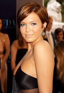 Mandy Moore with short, coppery hair