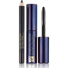 Estee Lauder Long Lashes and Long-Wear Liner (56 SAR) ❤ liked on Polyvore featuring beauty products, makeup, eye makeup, eyeliner, beauty, filler, make, trucchi, one color and estee lauder eye liner