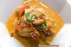 Kurczak i papryka, piersi kurczaka z ryżem po azjatycku, kuchnia tajska, pikantne danie z piersi kurczaka, mleko kokosowe przepis, kurczak przepis