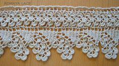 Handmade lace crochet trim garland crochet lace by romayacrochet