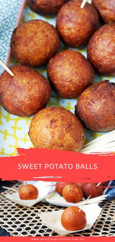 A crunchy and sweet Malaysian dessert that's fun and easy to make! Try this recipe for Sweet Potato Balls-out as a snack or to finish off a meal! Recipe by Asian Inspirations. Asian Sweet Potato Recipe, Sweet Potato Balls Recipe, Sweet Potato Recipes, Malaysian Dessert, Malaysian Food, Malaysian Recipes, Asian Snacks, Asian Desserts, Healthy Snacks