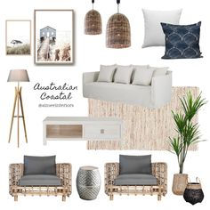 // capturing some coastal pieces from Australian designers in this moodboard 🌊 Theres something quintessentially wonderful about the Australian Coastal Style that is difficult to replicate anywhere else Coastal Style, Coastal Decor, Modern Coastal, Coastal Farmhouse, Modern Boho, Home Interior, Interior Styling, Coastal Interior, Interior Modern