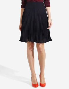 Pleated Polka Dot Skirt | Women's Skirts | THE LIMITED