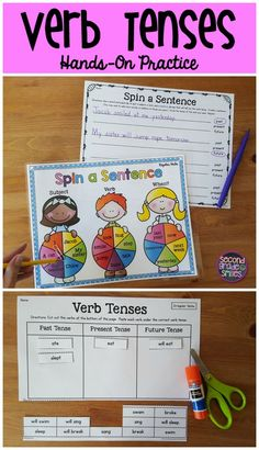 Are your students struggling with verb tenses? This pack has fun games, task cards, and hands-on activities to help them practice. I use these as literacy centers with my 2nd graders.