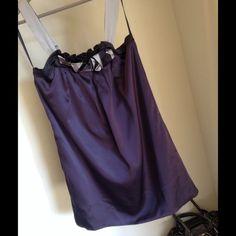 BCBG Max Azria Fashion Silk Mini Tunic Dress-XS BCBG Max Azria Fashion Silk Mini Tunic Dress with pockets, new without tags in perfect condition, Size XS, I think is Size S/ Color: Dark Purple/ 100% Silk BCBGMaxAzria Dresses
