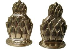 One Kings Lane - Brass Pineapple Bookends