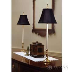 buffet lamps for dressing table.not these particular lamps but good idea Traditional Table Lamps, Traditional Lighting, Traditional Decor, Traditional House, Dressing Table Lamps, Buffet Table Lamps, Black Lamps, Vintage Lamps, Home Lighting