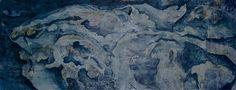"""Acrylic Mixed Media on Paper  16"""" x 36""""  (2011)."""
