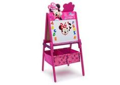 Kids love themed bedroom sets - and this Disney Minnie Mouse Twin Bedroom Collection is about as magical as they get! With plenty of pink accents, an abundance of bows, and just the right amount of polka dots, the Minnie Mouse Twin Bedroom Collection from Delta Children captures the cheerful, girly spirit of Minnie Mouse. The centerpiece of the collection is the twin bed with an upholstered headboard. Your girl's love for her favorite Disney mouse doesn't stop at the bed, it's exp...