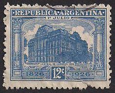 Estampilla Argentina, 1926 - Central de Correos de Buenos Aires