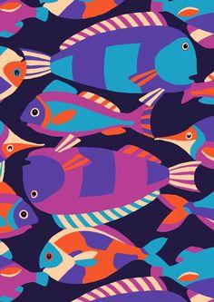 pattern by Minakani #minakani #pattern #fish #childrenpattern