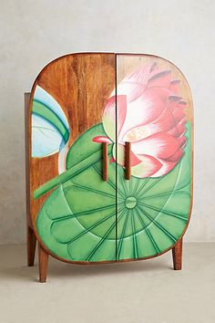 Handpainted Kamala Armoire #anthropologie