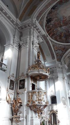 Church Interior, Literature Books, Austria, Ceiling Lights, Interiors, Landscape, Image, Home Decor, Ancient Architecture