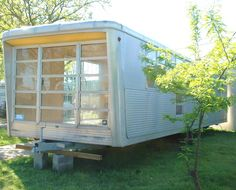 Spartan trailer made into a gorgeous tiny home - check out the interiors on this