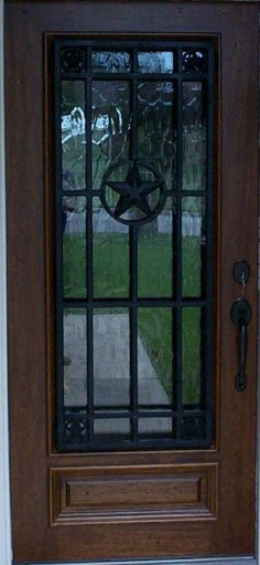 Texas Doors & Texas Lone Star iron door aaleadedglass.com | Rustic Home Decor ... Pezcame.Com