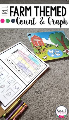 Introduction to Graphing   Counting and graphing is a new skill for most preschoolers and kindergartners but it can be made fun and easy with these cute farm themed pictures. Little ones count the animals in the picture and then take that information and color in a simple bar graph.   Click here to download your free farm graphing activity  counting Farm farm animals graphing graphing activities math PreK-2 Sara J Creations