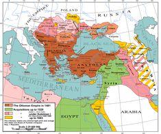 1299 a 1922 - Guerras otomanas en Europa - Fases: --Ascenso (1299-1453) --Expansión (1453–1683) --Estancamiento (1699–1827) --Declive (1828–1908) --Disolución (1908–1922)