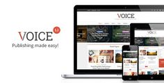 Voice is a professional WordPress blog/magazine theme created with online news and magazine websites in mind, but it can also be used for simple personal blogs. However, it is highly customizable