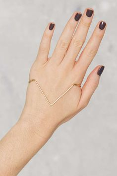 Get to the Point Palm Cuff - Accessories | Winter White | Bracelets