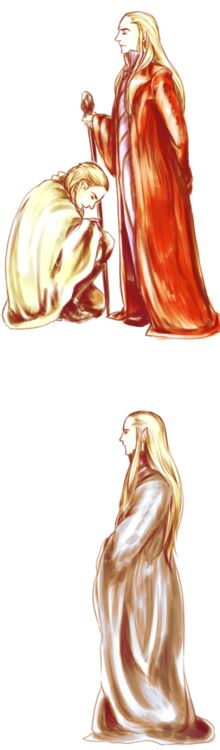 Legolas and Thranduil. I love this!