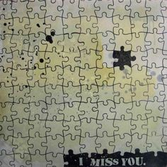 """""""I Miss You"""" by Daniel Bombardier.  Mixed Media on Wood Panel."""