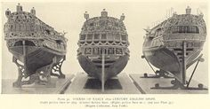 1700s Ketch | STERNS OF EARLY 18th. CENTURY ENGLISH SHIPS. (Left) 50 gun ship of ...