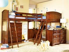 double loft bed stairs - Buscar con Google