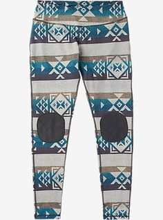 Burton Women's Expedition Wool Pant shown in Stout White Banded Geo
