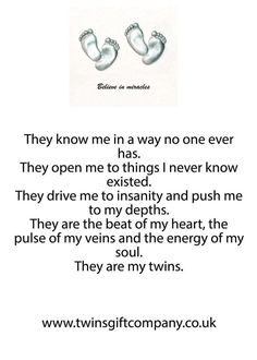 A twin poem shared by www.twinsgiftcompany.co.uk | Twins | Pinterest |  Awesome, This is awesome and Twin