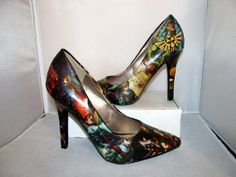 The Legend of Zelda Video Game Comic Book High Heels - Made to Order by custombykylee on Etsy.com