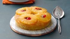 5 Surprising Twists on Classic Pineapple Upside-Down Cake   Taste of Home Pear And Almond Cake, Almond Cakes, Pineapple Upside Down Cake, Pineapple Cake, Pear Recipes, Cake Recipes, Indian Cake, Salty Cake, Cake Tasting