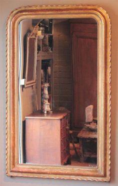 antike-franz-sische-blattgold-spiegel