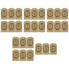 FREE printable Burlap Alphabet Letter Tags / A complete Set