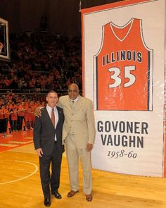 Globetrotter Legend, Govoner Vaughn, had his jersey honored at the University of Illinois. Read more about Govoner's Globetrotter career here.